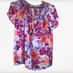 St John's Bay Floral Blouse Size XL